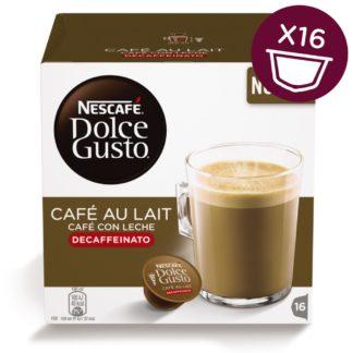 CAPSULAS CAFE DOLCE GUSTO CAFE CON LECHE DESCAFEINADO