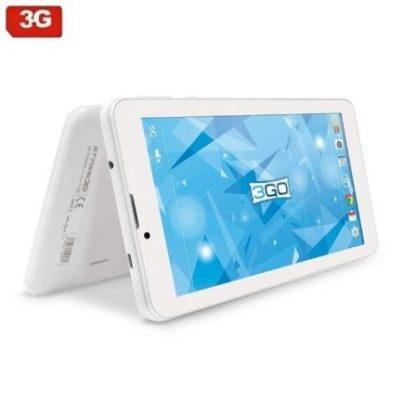 TABLET CON 3G 3GO GT70053G BLANCA - QC - 1GB RAM - 16GB - 7''/17.78CM 1024*600 - CAM 2/0.3MPX - WIFI B/G/N - MICROSD - ANDROID
